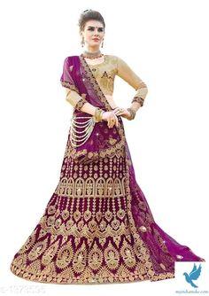 - MYiNDiAMAKE Lehenga Choli, Silk Sarees, Cotton Silk, Party Wear, Women Wear, Velvet, Fancy, Indian, Stylish