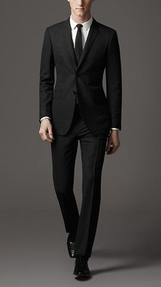 Burberry Modern Fit Virgin Wool Pinstripe Suit   Spring/Summer 2013