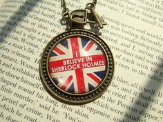 Sherlock Necklace I Believe in Sherlock Holmes Necklace Sherlock Cameo Sherlock Jewelry Sherlock Pendant Fandom Wholock Sherlockian on Etsy, $27.26