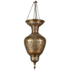 Vintage Moroccan brass hanging light fixture, delicately handcrafted and hand chiselled with floral and geometrical Moorish designs.Rewired ready to use.Collector brass decorative Islamic art pendant great to use in your next Moroccan project. Moroccan Chandelier, Moroccan Lighting, Vintage Chandelier, Chandelier Pendant Lights, Modern Chandelier, Goldscheider, Hanging Light Fixtures, Hanging Lights, Arabesque