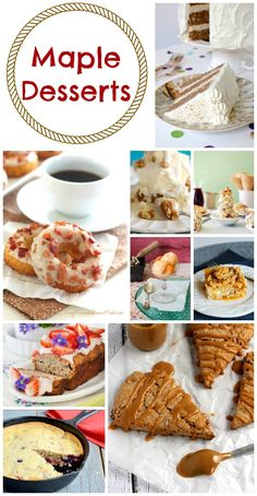 Maple Desserts Perfect for Canada Day - Moms & Munchkins Yummy Treats, Delicious Desserts, Dessert Recipes, Canadian Food, Canadian Recipes, Canadian Maple, Canada Day Party, Maple Syrup Recipes, Canada Holiday