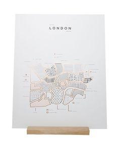 Affiche Londres - ROAM by 42 Pressed - Visuel 1