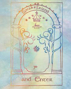 speak friend and enter.. lord of the rings.. hobbit, .. digital file