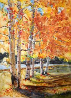 Aspen Run, painting by artist Kay Smith