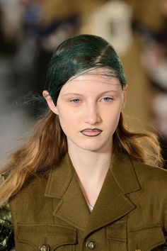 Maison Margiela PFW F/W16 Makeup Pat McGrath/ Hair Eugene Souleiman