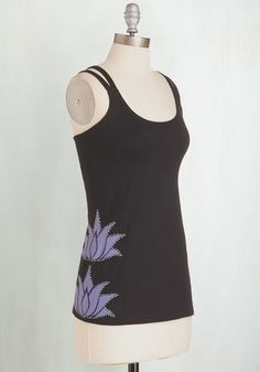 At a Moment's Lotus Athletic Top From the Plus Size Fashion Community at www.VintageandCurvy.com