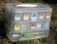storage for Cricut cartridges
