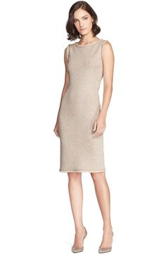 St. John Collection Mini Eyelash Tweed Sheath Dress available at #Nordstrom