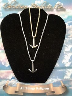 Gold/Silver Womens Anchor Pendant necklace Jewelry / with Quality Chain #ChristianHouse #Pendant
