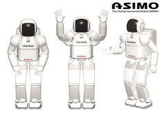 Asimo Robot #Robot - The 11th in a line of walking robots developed by Honda, called the P-Series. Unveiled in 2000, Asimo could walk and run like a human, which was an amazing feat. ASIMO had a significant upgrade in 2005, that allowed him to run twice as fast (6 km/hr or 4.3mph), interact with humans, and perform basic tasks like holding a platter and serving food. The current ASIMO models number about 100 worldwide, stand 4.2 feet tall, and weight about 120 lbs.