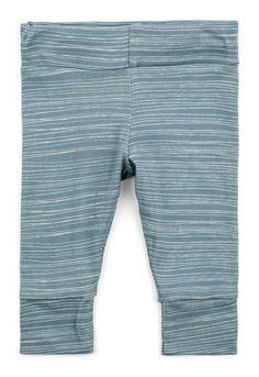MilkBarn Baby Leggings in Blue Stripe