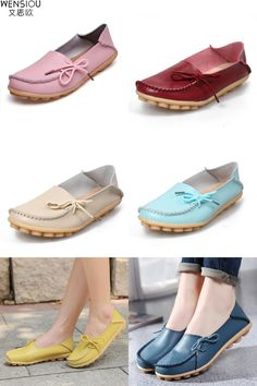 [Visit to Buy] 16 Colors Women Flat Shoes Slip On Woman Loafers Plus Size Women's Fashion Casual Shoes Moccasins Female Footwear 2017 QT179 #Advertisement