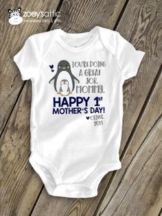 Baby Romper Happy First Mothers Day as a Nana Heart and Arrow
