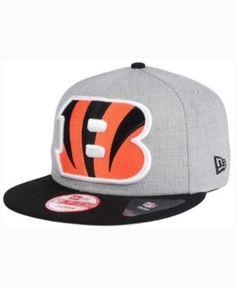 New Era Cincinnati Bengals Heather Grand 9FIFTY Snapback Cap - Gray Adjustable