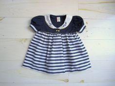 Vintage Nautical Striped Dress | Willow Moon Vintage, Etsy