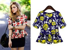 Trendy Floral Print Short Sleeve Top For Women Looks Style, Style Me, Your Style, What Should I Wear Today, Fashion Beauty, Womens Fashion, Cowgirl Style, Dress Patterns, Fashion Accessories