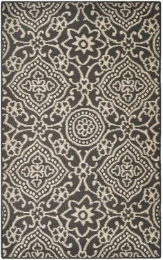Indoor/outdoor contemporary 5' x 8'  rug by MineralSprings on Etsy, $115.00