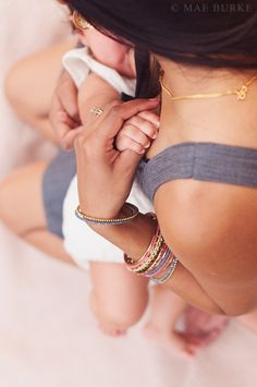 """Hold Her"" Breastfeeding Mother & Daughter by Mae Burke Photography"