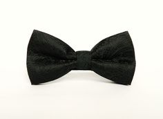 Black patterned bow tie Pre-tied wedding black bow tie gift for men groomsmen uk by TheStyleHubTrends on Etsy