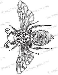 Find this beautiful bumble bee by Crystal Brashear inside Issue 2 of The Coloring Studio.