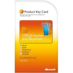 Microsoft Office Home & Business 2010 Product Key Card- 1PC/1User [Download]  A NICE ONE