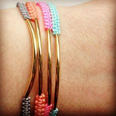 Elegant bracelet with golden finding. kr55,00, via Etsy./ $9.48