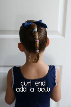 Cute little girl hair-great for dance/gymnastics.