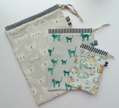 Drawstring bags; would be good to pack shoes in suitcases