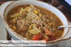 Low Carb Meal Ideas: Bountiful Chicken & Veggie Harvest Soup - Time 2 Save Workshops