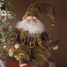 Velvet Santa Father Christmas, Christmas 2017, Christmas Ideas, Christmas Cards, Snowmen, Reindeer, Elf Magic, Santa Doll, Brown Decor