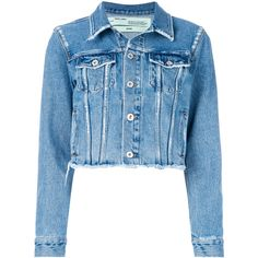 Off-White Flower Shop Denim Jacket (2.575 RON) ❤ liked on Polyvore featuring outerwear, jackets, blue, cropped jean jacket, off white jacket, blue cropped jacket, flower denim jacket and cotton jacket