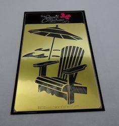 adirondack chair silhouette. Metal Stencil With Adirondack Chair And Beach By RosieRosetta Silhouette