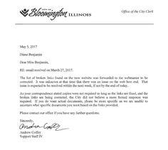 Bloomington Fails FOIA