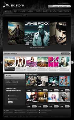 Music Store Magento Themes by Mercury