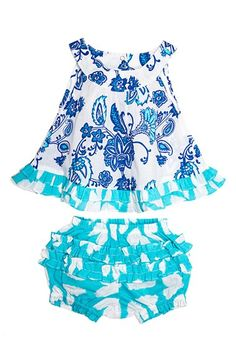 Masalababy 'Rhythm' Top & Bloomers Set (Baby Girls)