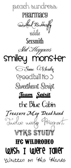 More Free Fonts - smiley monster is cute!