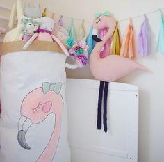 Image of NEW Handmade Flamingo Soft Toy