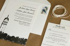 ► Invitaciones de boda ilustradas en blanco y negro. #invitaciones #boda