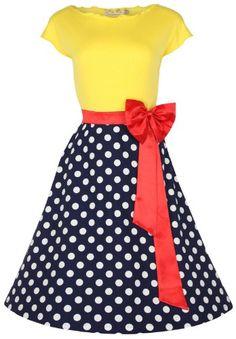 Lindy Bop 'Yvette' 1950's Vintage Parisian Style Pinup Dress Lindy