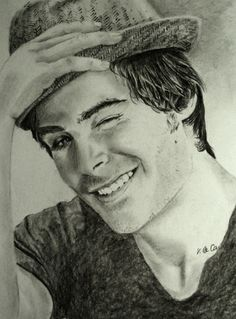 zac efron portrait portraits pencil drawing drawings stars celebrity
