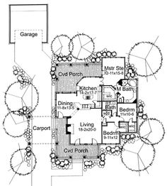 Cottage Plan: 1,657 Square Feet, 3 Bedrooms, 2 Bathrooms - 9401-00017
