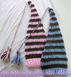 nothing's creative anymore: Newborn Elf Hat with Braided Tassel - Free Crochet Pattern