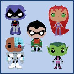 """ They are Teen Titan. Teen Titans Love, Transformer Birthday, Hero Girl, Superhero Party, Batgirl, Krafty Nook, Boy Birthday, Illustrators, Fan Art"