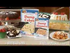 Dump Cakes: A Cathy Mitchell Recipe Book with an Unfortunate Name – Infomercial Hell Dump Dinners, Lunches And Dinners, Poke Cakes, Dump Cakes, Cooking Recipes, Dump Recipes, Dessert Recipes, Desserts, Fun Drinks