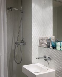"This smart bathroom is from our feature ""Pocketsized Paris"""
