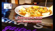 #CALAMARES EN #SALSA CON #HUEVOS #COCIDOS ***NUEVA RECETA*** #recetasdecocina #guestposting con #kirasgastrobar #granada #recipes #kitchenrecipes