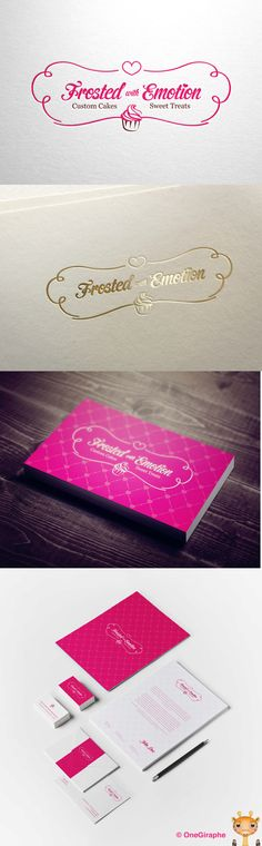 Frosted with Emotion - Logo for Sale! by OneGiraphe , via Behance