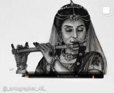 Radha Krishna Sketch, Krishna Drawing, Radha Krishna Pictures, Radha Krishna Photo, Krishna Photos, Krishna Art, Lord Krishna, Hard Drawings, Unique Drawings