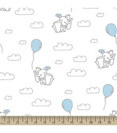 Disney® Dumbo Print Fabric-Clouds