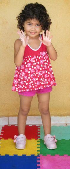 Look Infantil: Short e batinha